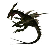 Mythical Fantasy Dragon with Forktail Stock Images