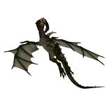 Mythical Fantasy Dragon with Forktail Royalty Free Stock Photography