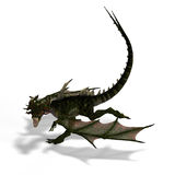 Mythical Fantasy Dragon with Forktail. Giant fantasy dragon with great wings. With Clipping Path Stock Images