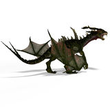 Mythical Fantasy Dragon with Forktail Royalty Free Stock Images