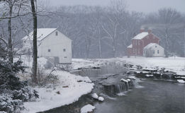 Mythical Farm in Winter Snow Royalty Free Stock Photography