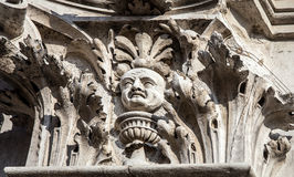 Mythical figure venice. The head of a mythical figure in  venice Royalty Free Stock Photo