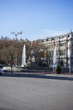 Mythical fountain of Cibeles, the capital of Spain madrid Royalty Free Stock Photo