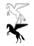 Mythical horse Pegasus on a white background Stock Images