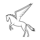 Mythical horse Pegasus on a white background Stock Photography