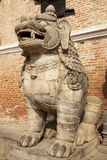 Mythical Lion, Bhaktapur, Nepal Stock Photos