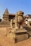 Mythical Lion, Bhaktapur, Nepal Royalty Free Stock Images