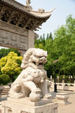 Mythical lion statue Stock Photos