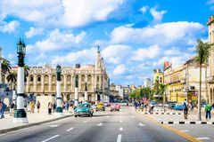 Beautiful Old havana. Mythical Old Havana in Cuba, architecture Royalty Free Stock Photo