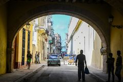Beautiful Old havana. Mythical Old Havana in Cuba, architecture Royalty Free Stock Images