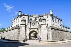 Mythical Old havana. In Cuba, beautiful castle Royalty Free Stock Photos