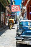 Beautiful Old havana. Mythical Old Havana in Cuba, beautiful old car Royalty Free Stock Photo