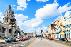Mythical Old havana. In Cuba, perfect street Royalty Free Stock Photo