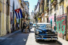 Mythical Old havana. In Cuba, perfect street Stock Images