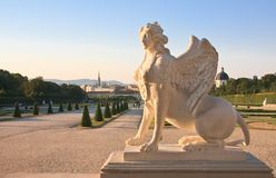 Mythical Sphinx. Belvedere, Vienna, Austria Stock Photo