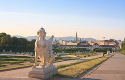 Mythical Sphinx. Belvedere, Vienna, Austria Royalty Free Stock Photo