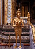 Mythical statue, Grand Palace, Bangkok. Royalty Free Stock Images