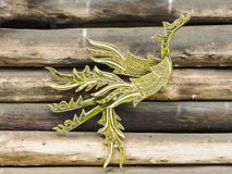 Mythical Thai style handcrafted a swan. Stock Photos
