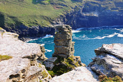 Roocks and Ocean - Mythical Tintagel, Cornwall Stock Images