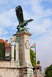 Mythical Turul Bird Statue in Budapest Stock Photo