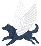Mythical winged dog Simuran Royalty Free Stock Image