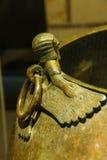 Mythical winged figures. On bronze cauldron, Gordion civilization from Kazan, 8th c BCE,  Museum of Anatolian Civilization,  Ankara, Turkey Royalty Free Stock Photography