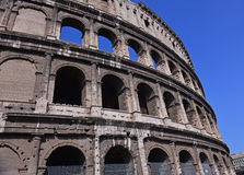 Mythische ColosseumAmphitheater in Rome, Italië stock afbeeldingen
