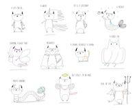 Mythische Katzen vektor abbildung