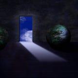 Mythische ruimte vector illustratie