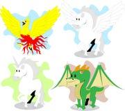Mythische schepselen Stock Afbeeldingen
