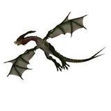 Mythischer Fantasie-Drache mit Forktail vektor abbildung