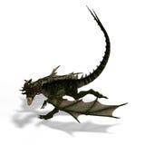 Mythischer Fantasie-Drache mit Forktail lizenzfreie abbildung