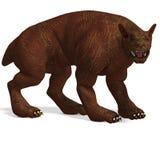 Mythologic dog creature with golden skin Royalty Free Stock Photo