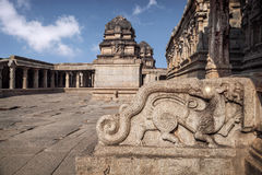 Mythological animal in Hampi Temple Stock Photos