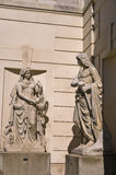 Mythological architectural details at Hofburg palace in Vienna Stock Image