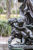Mythological bronze sculpture. Ornamental fountains of the Palac Stock Images