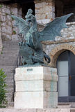 Mythological Creature Bronze Statue at Trsat Castle in Rijeka Royalty Free Stock Photo