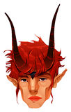 Mythological demon head. Stock Image