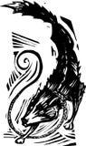 Mythological Fenris Wolf 2. Woodcut style image of the viking mythological Fenris Wolf Royalty Free Stock Photography