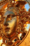 The mythological figure of Medusa. On the gate of the royal palace in turin Stock Image