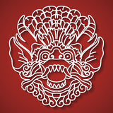 Mythological god's face. Balinese tradition. Barong. Royalty Free Stock Photos