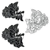 Mythological god's masks. Balinese style. Barong. Royalty Free Stock Images