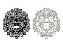 Mythological god's masks. Balinese style. Barong. Mythological god's masks. Balinese style. Barong EPS10 Royalty Free Stock Photo