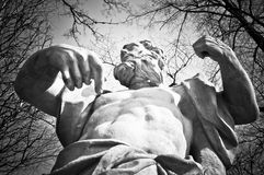 Mythological hero or god pointing at himself Royalty Free Stock Photography