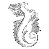Mythological Hippocampus. Legendary sea horse. The series of mythological creatures Royalty Free Stock Image