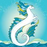Mythological Hippocampus. The series of mythological creatures Stock Photos