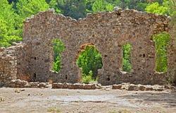 Mythological and historical artifact. Mythological olympos city walls, Antalya - Turkey Stock Images