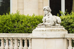 Mythological Hybrid Female Roman Headed Sphinx Statue Stock Photos