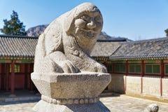 Mythological lion Haechi at Gyeongbokgung Palace in Seoul Stock Photo