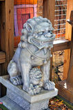 Mythological lion statues Royalty Free Stock Photo